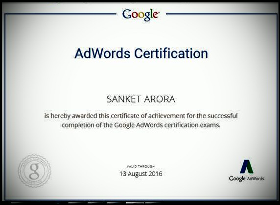 Adwords certification- Google